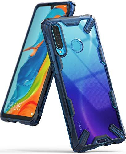 Ringke Fusion-X Diseñado para Funda Huawei P30 Lite Proteccion Absorción de Impacto Funda para Huawei P30 Lite New Edition, TPU + PC Funda Huawei Nova 4e - Space Blue