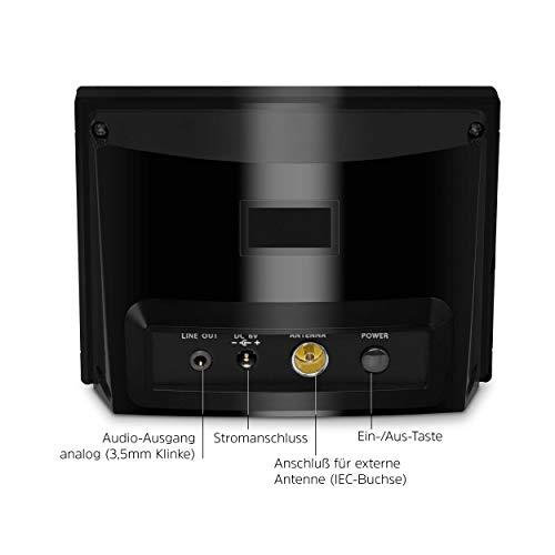 TechniSat DIGITRADIO 100 - Adaptador de radio digital para la extensión de sistemas de alta fidelidad y receptores AV, receptor FM / DAB +, Bluetooth, conexión para antena externa, temporizador de apagado, reloj despertador, negro
