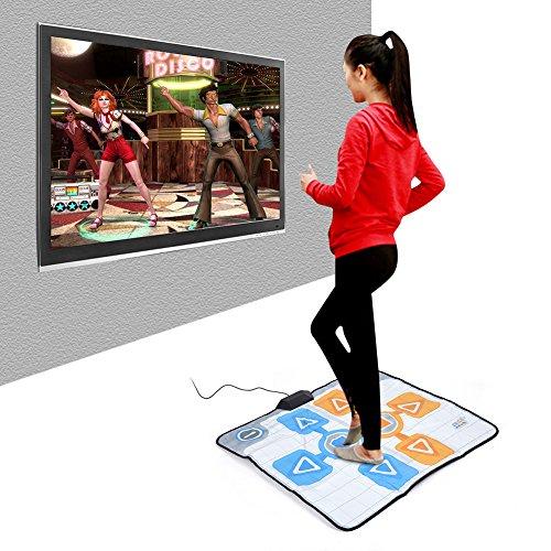 Tosuny Alfombrilla de Baile, Dance Dance Revolution Mat Doble Persona Antideslizante para Juego de Consola de Wii