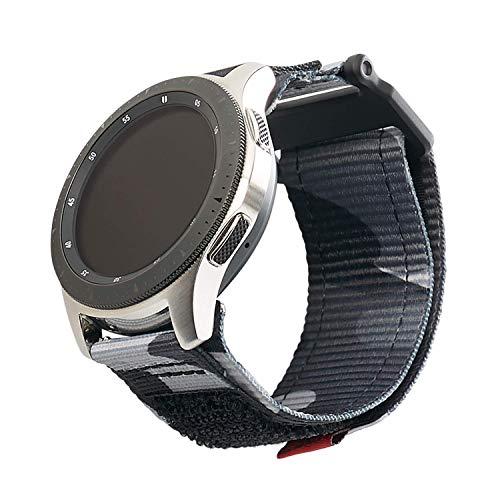 Urban Armor Gear Active Strap Correa Samsung Galaxy Watch3 45mm, Watch 46 mm, Gear S3 Frontier & Classic, Active 2 44 mm (Diseñado para Samsung Smartwatches, Correa reemplazable) - negro (camo)
