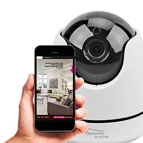 Domotify - Cámara WiFi de videovigilancia (visión Nocturna, notificaciones, App Domotify para iOS y Android), Color Blanco