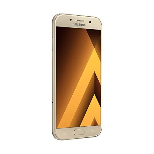 "Samsung Galaxy A5 (2017) - Smartphone libre de 5,2"" (Android 6.0, pantalla Super AMOLED táctil capacitiva, cámara trasera 16 MP y frontal 16 MP, 32 GB) [Versión española] dorado"