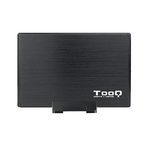 """TooQ TQE-3527B - Carcasa para discos duros HDD de 3.5"""", (SATA I/II/III, USB 3.0), aluminio, indicador LED, Color Negro"""