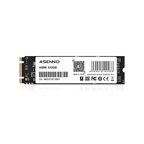 ASENNO M.2 2280 NGFF unidad de estado sólido de 512 GB