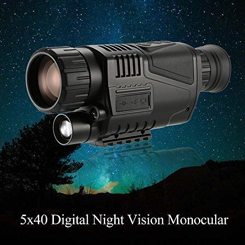 Benkeg Visión Nocturna Monocular - Telescopio monocular de visión Nocturna Digital Multifuncional 5x40 con cámara Grabadora de Video Función de videocámara