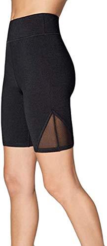 Cranky Orange - Mallas deportivas para mujer, de malla Tech Mesh para yoga, pantalones de deporte, con insertos de malla cortos, pantalones de yoga, Número de saltos., Mujer, color Negro , tamaño XL