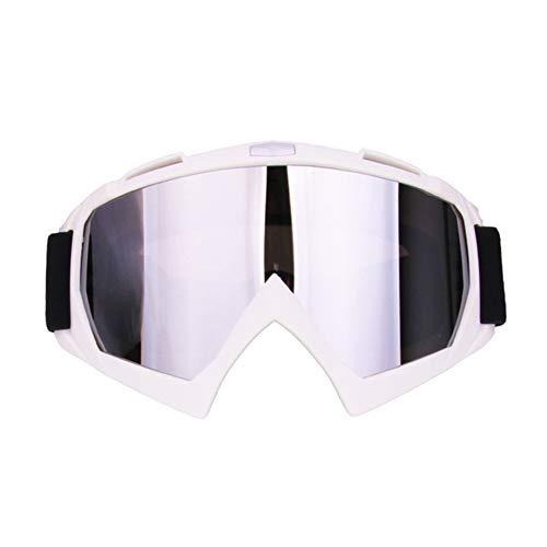 LIERSI Gafas De Esquí, Snowboard Gafas De Nieve Grande Esférica 100% UV400 Protección OTG Altamente Transparente para Hombres Mujeres Jóvenes,Blanco