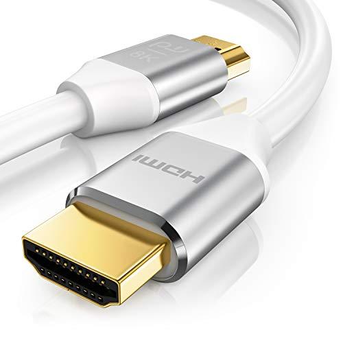 Primewire - Cable HDMI 8k 2.1 de 1m - 8K a 120Hz con DSC - 3D – 7680 x 4320 - UHD II – 3D - Ethernet de Alta Velocidad - HDTV - eARC - Velocidad de Actualización Variable - Dolby Vision - 1 Metro
