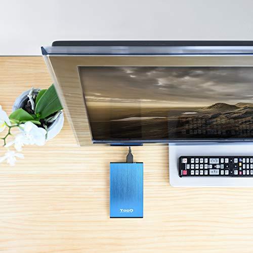 """TooQ TQE-2527BL - Carcasa para discos duros HDD de 2.5"""", (SATA I/II/III de hasta 9.5 mm de alto, USB 3.0), aluminio, indicador LED, color azul, 50 grs."""