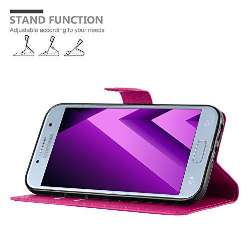 Cadorabo Funda Libro para Samsung Galaxy A5 2017 en Rosa Cereza - Cubierta Proteccíon con Cierre Magnético, Tarjetero y Función de Suporte - Etui Case Cover Carcasa
