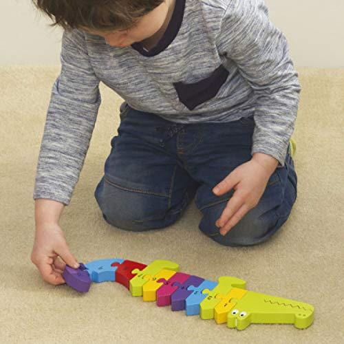 Orange Tree Toys- Crocodile Puzzle numérico cocodrilo, Multicolor (30305284)