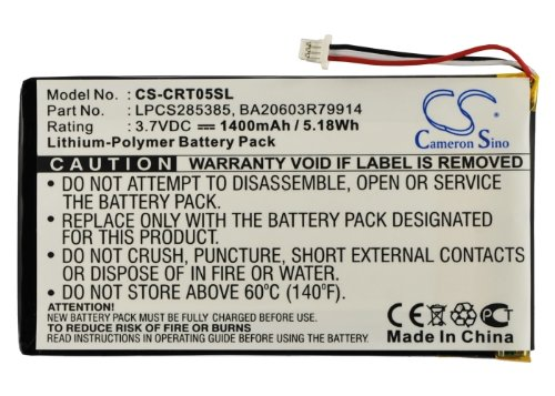 Bateria Creative Zen Vision M 30GB, Li-pl, 1400 mAh