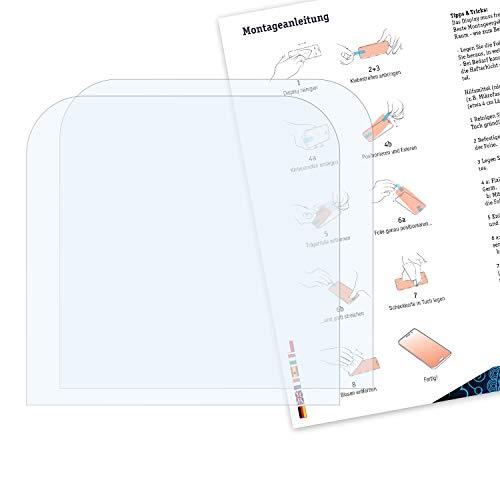 Bruni Película Protectora para Creative Zen Vision M 60 GB Protector Película, Claro Lámina Protectora (2X)