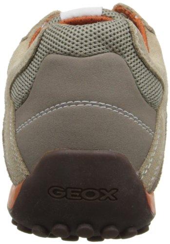 Geox Uomo Snake K, Zapatillas para Hombre, Beige (Beige/Dark Orange C0845), 47 EU