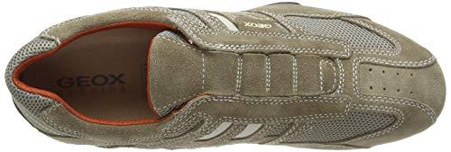 Geox Uomo Snake L, Zapatos para Hombre, Beige (Beige/Dk Orange C0845), 39 EU