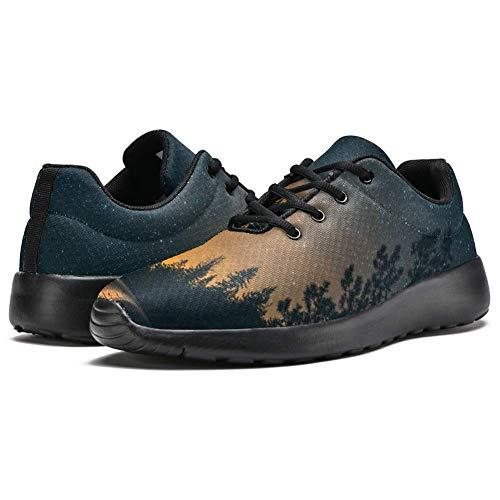 Iobaby - Zapatillas deportivas para correr para mujer, diseño suburbano, visión nocturna, de malla transpirable, senderismo, tenis, color Multicolor, talla 39 EU