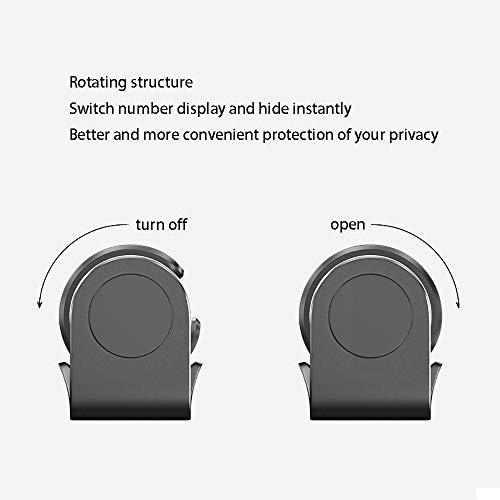 MMFXUE Tarjeta de estacionamiento Temporal automático Tarjeta de estacionamiento Temporal automático Número de teléfono Soporte para teléfono del automóvil Número de teléfono Escudo