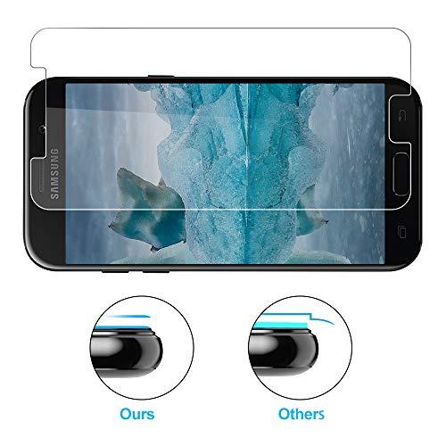 PUUDUU Protector de pantalla para Samsung A5 2017, [3 piezas] Vidrio templado Samsung A5 2017, Protector de pantalla para Samsung A5 2017-0.33mm HD Ultra Clear