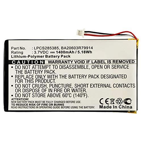 subtel® Batería Premium Compatible con Creative Zen Vision M 30GB Zen Vision M 60GB - BA20603R79914 DVP-HD0003 (1400mAh) bateria Repuesto Pila