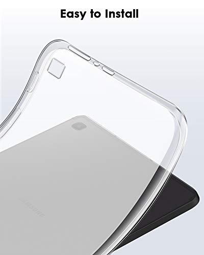 TOPACE - Funda para Samsung Galaxy Tab S6 Lite, ultrafina, carcasa blanda de silicona TPU, antigolpes, antihuellas, absorción de golpes, para Samsung Galaxy Tab S6 Lite, transparente