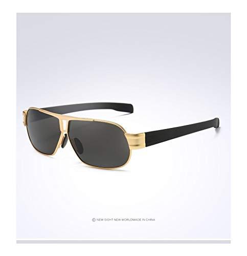 Venta Caliente De Los Hombres De Aluminio-magnesio Conductores De Automóviles Gafas De Visión Nocturna Gafas De Sol Polarizador Gafas De Conducción Polarizadas (Color Name : Gold)