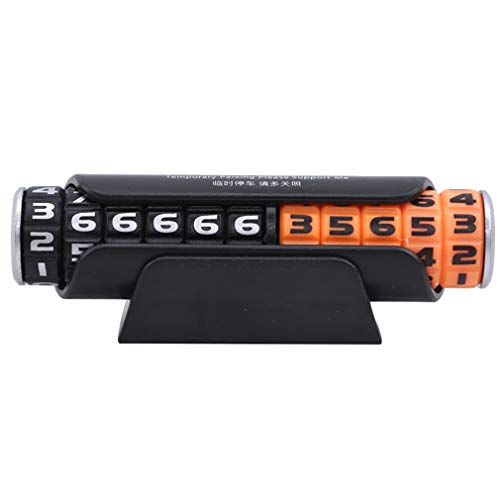 Yeucan - Adhesivo digital para número de teléfono móvil, plástico abs, Black orange, Size