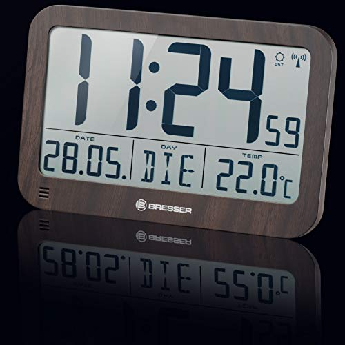 Bresser Reloj de Pared, Apariencia de Madera, 225x150mm