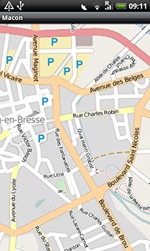 Macon Bourg-en-Bresse Street Map