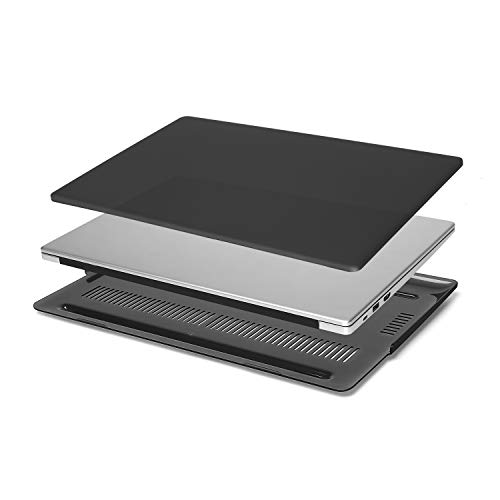 MOSISO Funda Compatible con Huawei MateBook D 15 Pulgadas 2020 2019, Cubierta Rígido Plástico Estuche Protectora, Negro