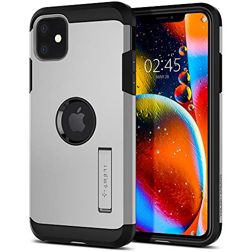 "Spigen Parent [Tough Armor] Apple iPhone 11 (6.1"") (Plata Satinada)"