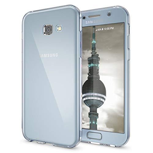 """TBOC 2X Funda para Samsung Galaxy A5 [2017] [5.2""""] - [Pack: Dos Unidades] Carcasa [Transparente] Completa [Silicona TPU] Doble Cara [360 Grados] Protección Integral Total Delantera Trasera Lateral"""