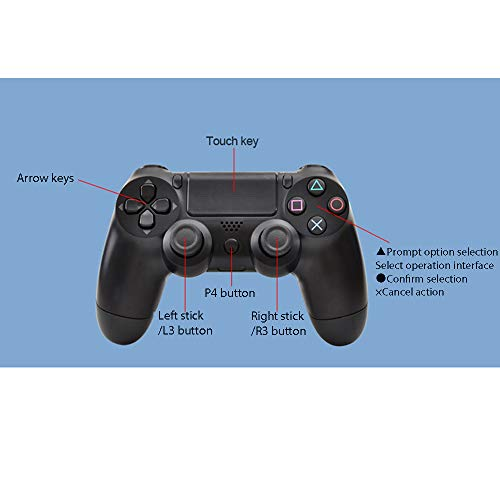 ABCSS Controlador Bluetooth 2.G Bluetooth inalámbrico somatosensorial Compatible con Controlador con Cable de PC y conexión Directa de Android al Controlador del Juego.
