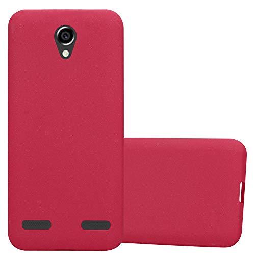 Cadorabo Funda para ZTE Blade L7 en Frost Rojo - Cubierta Proteccíon de Silicona TPU Delgada e Flexible con Antichoque - Gel Case Cover Carcasa Ligera