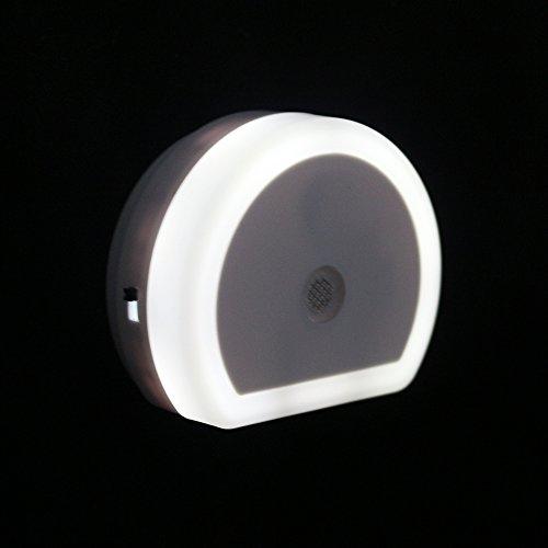 Luz Nocturna con Cargador Doble USB + Soporte Pared para Móvil + Cable USB para Android e iPhone (1A)