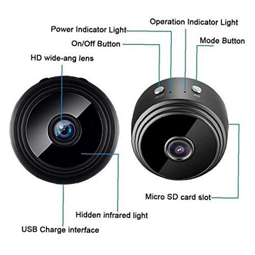 A9 1080P Wifi mini cámara, cámara de seguridad en el hogar P2P, cámara de vigilancia de visión nocturna inalámbrica, aplicación de teléfono monitor remoto de cine y televisión fotografía herramientas
