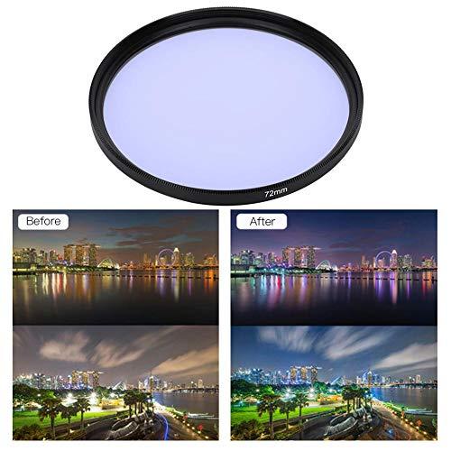 Bigking Lente de filtros, Lente de cámara de Filtro Nocturno de Vidrio óptico de reducción de contaminación lumínica de 72 mm Filtros para Cielo