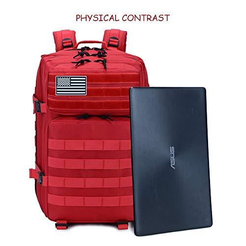 SJAPEX Mochila Táctica Militar 45L, Paquete de Asalto de Gran Capacidad para Utilidad Militar Bolsa de Emergencia, para Caza Senderismo Acampada Actividad al Aire Libre