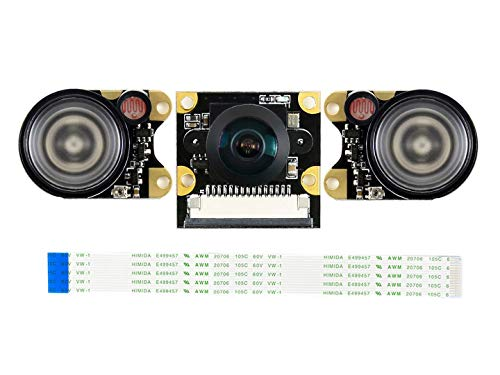 Waveshare IMX219-160IR Camera Supports NVIDIA Jetson Nano Developer Kit Compute Module 3/3+, 8 Megapixels Infrared Night Vision 160° FOV Suits for AI Projects