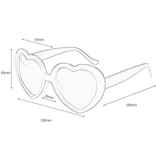 Yiyu Gafas 3D de Fuegos Artificiales del corazón de difracción Gafas Efecto de iluminación Especial for la música al Aire Libre Fiesta/Bar/Fuegos Artificiales x (Color : Black)