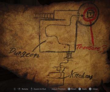 Solución del mapa del tesoro de Resident Evil Village: encuentra el tesoro del Castillo Dimitrescu
